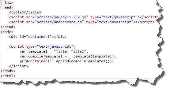 re learning backbone js templates underscore mike barlow
