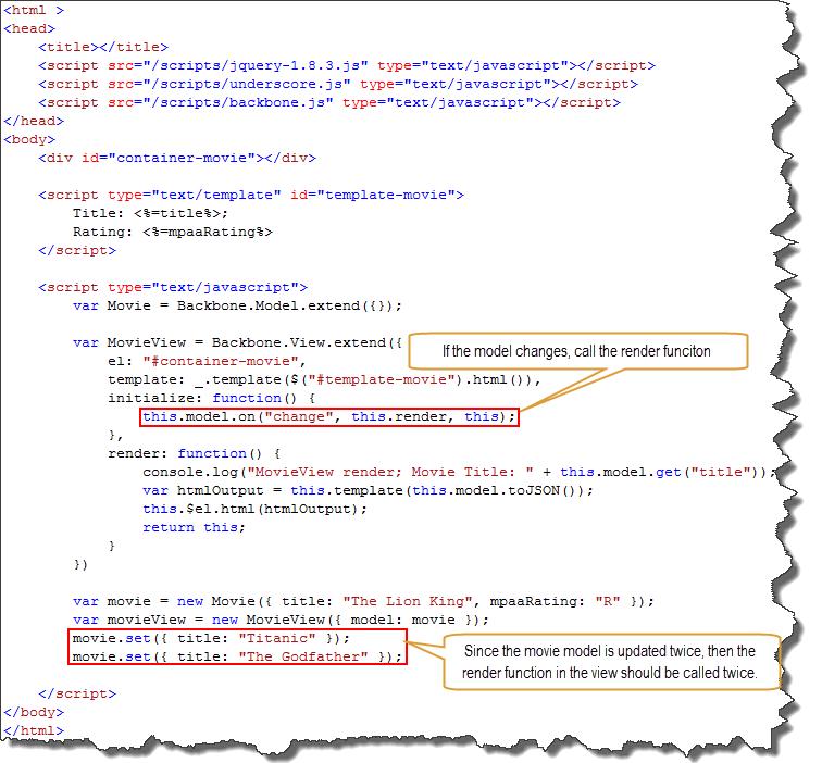 re learning backbone js binding models to views mike barlow